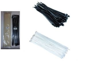 Кабелни връзки бяло/черно размери