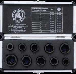 Вложки - екстрактори за отвиване на повредени болтове и гайки 3/8'' BGS
