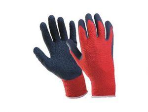 Ръкавици, червено трико/ черен латекс TS