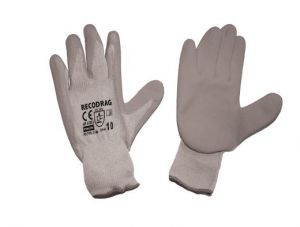 Ръкавици, сиво трико/ сив латекс TS
