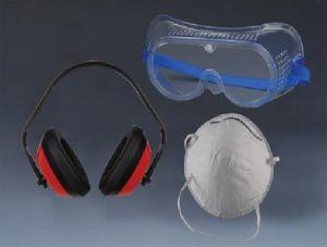 К-т маска за прах, защитни очила и антифон TS
