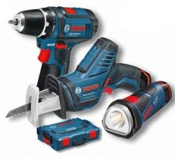 Акумулаторни инструменти GSR 10,8-2 Li + GSA 10,8 Li + GLI PowerLED