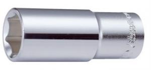 Вложка за гедоре 6-стенна удължена 1/4'' Dura Chr-V Hans Tools