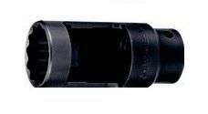 Вложка за дюзи прорязана 1/2''х27мм 12-стен L-78мм Dura Chr-Мо Hans Tools