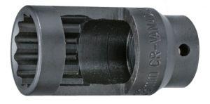 Вложка за дюзи прорязана 1/2''х28мм 12-стен L-78мм Dura Chr-Мо Hans Tools