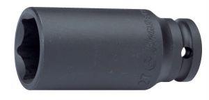 Вложка ударна удължена 1'' 6-стенна Dura Chr-Мо Hans Tools