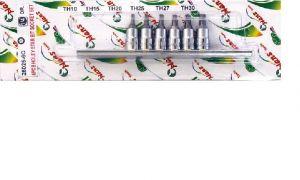 Вложки к-т 6ч. 1/4'' еврейска зведа с отвор Dura Chr-V Hans Tools