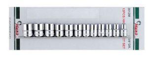 Вложки к-т 9ч. 3/8'' 6-стен къси 8-19мм Dura Chr-V Hans Tools