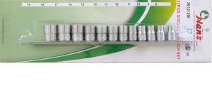 Вложки к-т 12ч. 3/8'' 12-стен къси 8-19мм Dura Chr-V Hans Tools