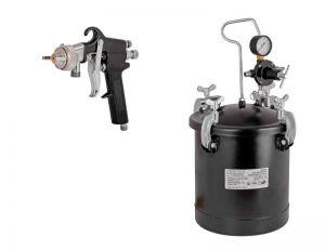 Пистолет за боя с казанче и маркуч 10л RD - PT02