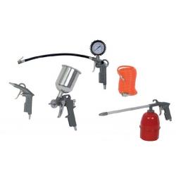Пистолети за боя с горно казанче к-т 5бр. RD - AT02