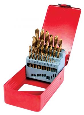 Свредла за метал к-т 25бр HSS + TIN
