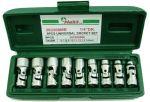 Вложки чупещи к-т 9ч. 6-14мм 1/4'' 12-стен Dura Chr-V Hans Tools