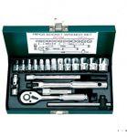 Гедоре 1/4'' к-т 19ч 4-14мм метална кутия 6-стен Dura Chr-V Hans Tools