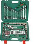 Гедоре 1/4''-1/2'' к-т 124ч 6-стен с ключове Dura Chr-V Hans Tools