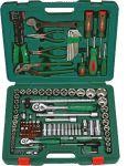 Гедоре 1/4''-1/2'' к-т 158ч с клещи и отвертки Dura Chr-V Hans Tools