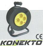 Макара с разклонител - 4 гнезда със защита от прегряване и кабел KONEKTO
