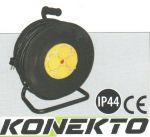 Макара с разклонител - 4 гнезда, IP 44, влагоустойчив със защита от прегряване и кабел KONEKTO