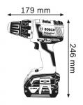Акумулаторен бързозаряден винтоверт GSR 18 V-EC, 2 x 4.0 Аh BOSCH